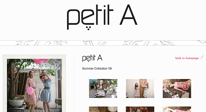 Website Design for Fashion Designer Petit A