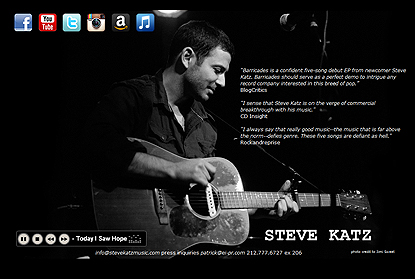 webdesign and development for Steve Katz singer/songwriter