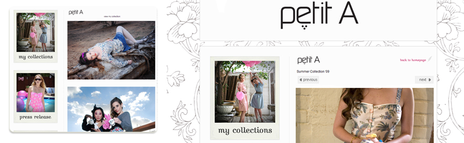 Website for Fashion Designer Petit A
