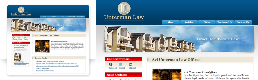 Website Design & devlepped with wordpress for Unterman Law